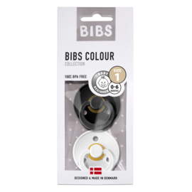 BIBS SPEEN BLACK/WHITE