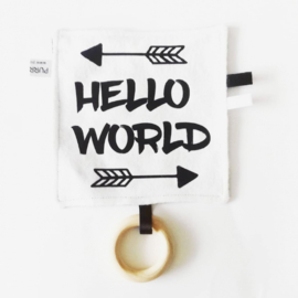 Labeldoekje Hello World