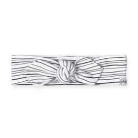 Haarband Zwart/Wit gestreept