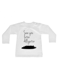 Shirt See you later alligator - maat 56 nog 1