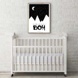 Poster Cuddle under the stars Boy