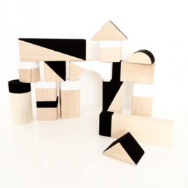 Houten Blokken Geometrisch Black & White