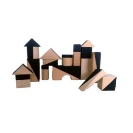 Houten Blokken Geometrisch Black