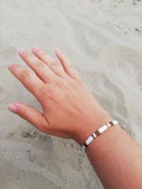 IBY Miyuki armband Industrieel wit