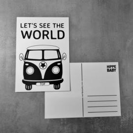 Postkaart Volkswagenbus
