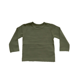 Basic Shirt Legergroen