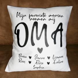 Kussen Oma's of Opa's favoriete mensen