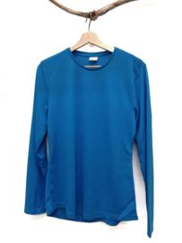 Dames sportshirt blauw (maat M)