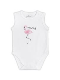 Mouwloze Romper Flamingo Maat 62/68