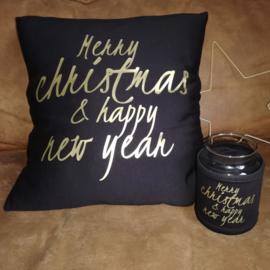 Kussen Merry Christmas & happy new year