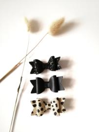 Haarstrikjes black (set van 3)