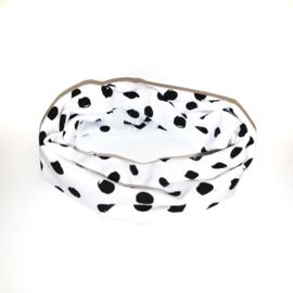 Sjaaltje zwart/wit dots