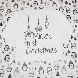 Naamshirt First Christmas