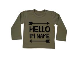Naamshirt Hello