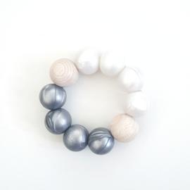 Bijtring Silver/Pearl