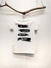 Verfstrepen shirt (met naam en) jouw woorden