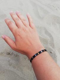 IBY Miyuki armband Lady Black with Gold and Silver