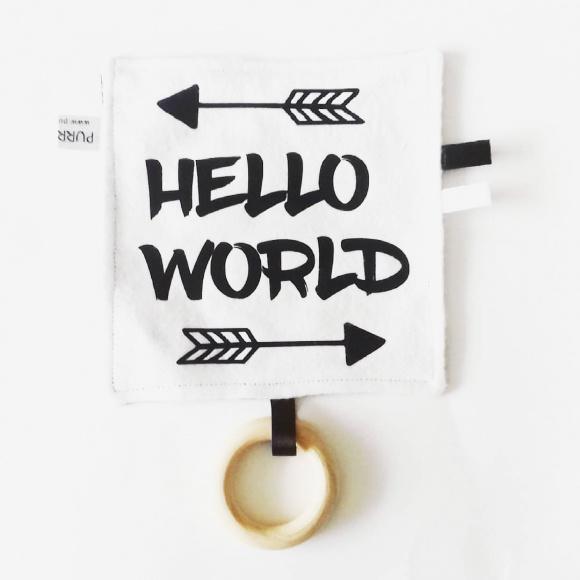 Labeldoekje Hello World