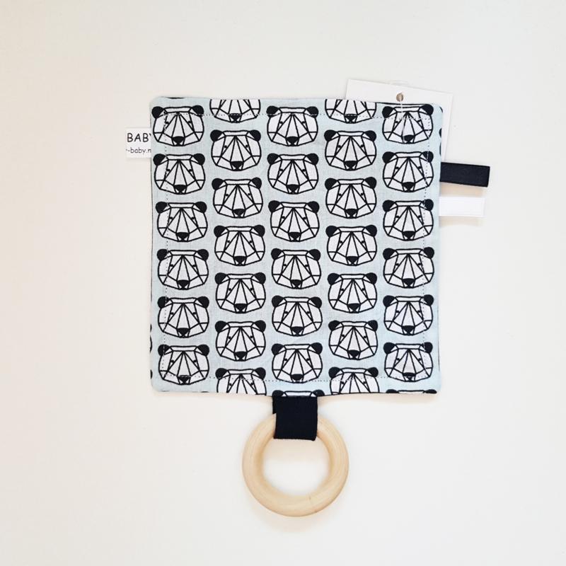 Labeldoekje Panda's