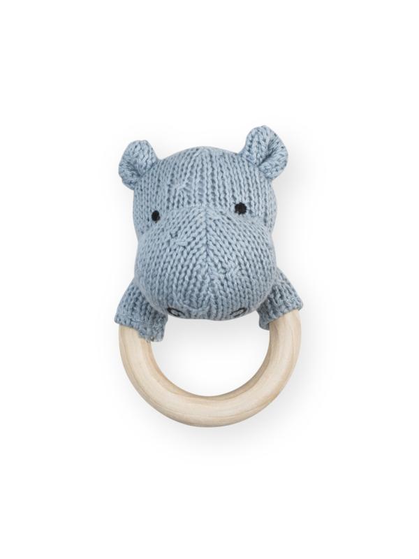 Rammelaar /Bijtring Hippo soft bleu