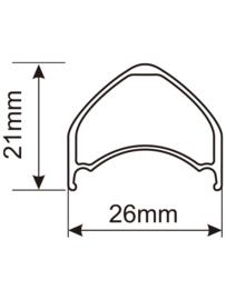 Fatlab 26 mm Alloy tubeless velg