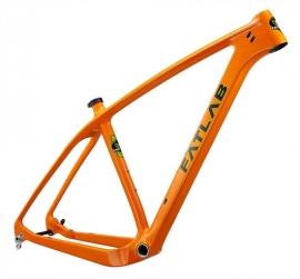 FATLAB Bootie Carbon 65-b+/29er frame/vork Oranje