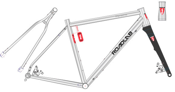 Roadlab Panache Titanium Frame / Vork kit