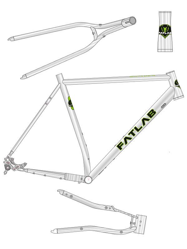 FATLAB Grinder Gravel Racer Titanium Frame / Vork kit