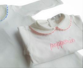 Pyjama met naam (roze/blauw)