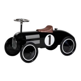 Luxe loopauto mét naam (zilver/zwart)
