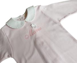 Pyjama katoen met naam (roze en blauw)