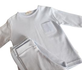 2-delige pyjama met naam tot 3Y (roze/blauw)