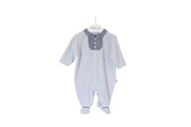 Pyjama klassiek grijs velours