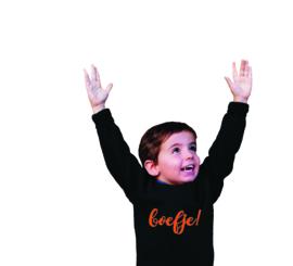 Sweater met vrije opdruk (boys & girls)