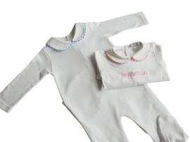 Pyjama met naam (roze/blauw/goud)