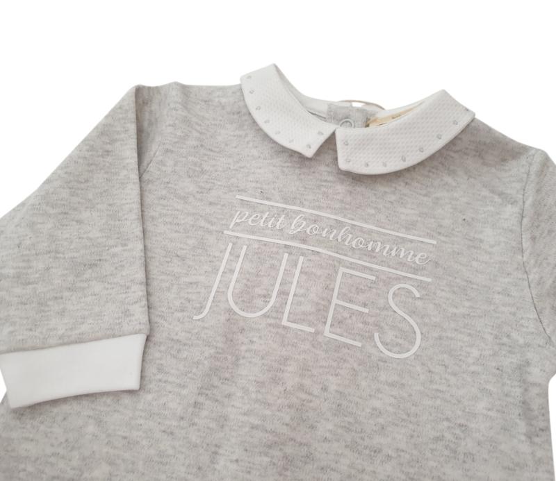 Pyjama grijs met naam