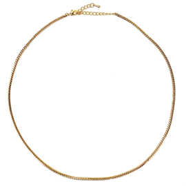SNAKE CHAIN GOLD PLATED NECKLACE
