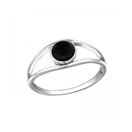 ZWARTE ONYX RING STERLING SILVER