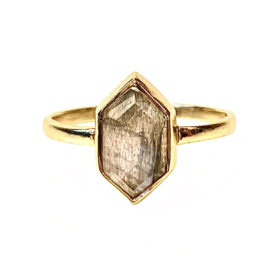 FANCY LABRADORITE RING GOLD VERMEIL / MUJA JUMA