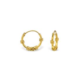 BALI HOOPS 12MM EARRINGS GOLD VERMEIL