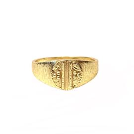 SIGNET RING GOLD VERMEIL / MUJA JUMA 15.25
