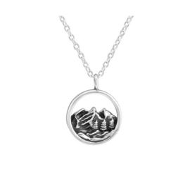 MOUNTAINS NECKLACE STERLING SILVER