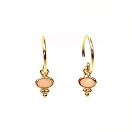 GIPSY PINK OPAL GOLD VERMEIL EARRINGS / MUJA JUMA