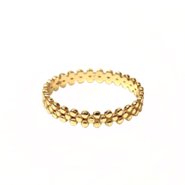 DOTTED RING GOLD VERMEIL / MUJA JUMA 18
