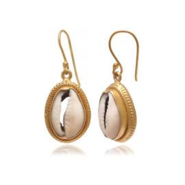 SHELL EARRINGS GOLD VERMEIL