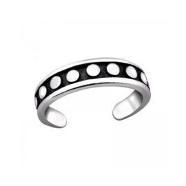 SILVER DOTS TEEN RING STERLING ZILVER