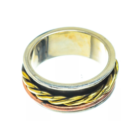 SPINNER RING STERLING SILVER 18.25