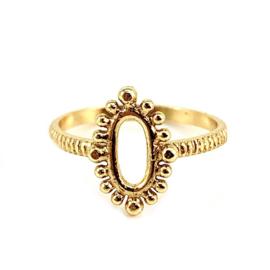 OVAL DOTS RING GOLD VERMEIL / MUJA JUMA