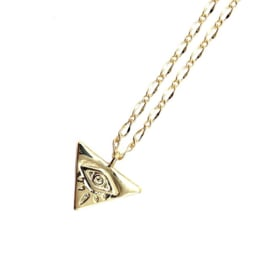 TRIANGLE EYE GOLD PLATED KETTING
