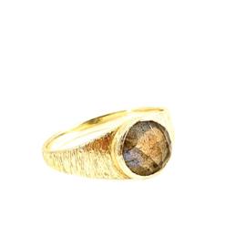LABRADORIET SIGNET RING GOLD VERMEIL / MUJA JUMA